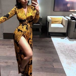 Fashion Nova printed maxi dress